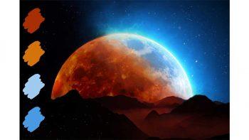 دانلود پالت رنگ Moon Ps Swatches