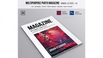 دانلود فایل لایه باز مجله عکس Multipurpose A4 Photo Magazine