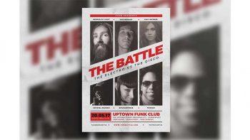 دانلود فایل لایه باز تراکت Music Battle Flyer