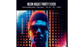 دانلود فایل لایه باز بنر Neon Night Party Flyer