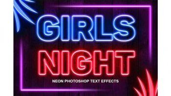 دانلود اکشن افکت نئونی Neon Photoshop Action