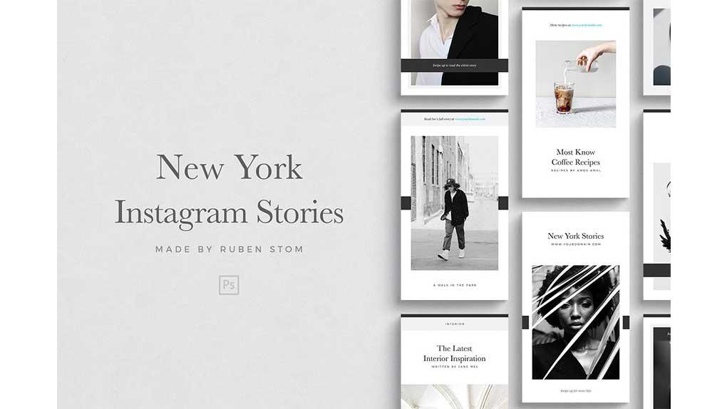 فایل لایه باز استوری اینستاگرام New York Instagram Stories