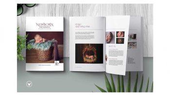 دانلود قالب آماده ایندیزاین مجله Newborn Studio Magazine Template