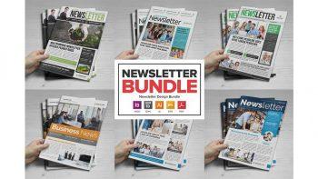 دانلود قالب ایندیزاین روزنامه Newsletter Design Bundle – 6 in One
