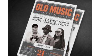 دانلود فایل لایه باز تراکت کنسرت موسیقی Old Vintage Music Flyer