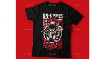 دانلود وکتور تیشرت On-Games T-Shirt Design