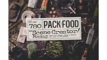 دانلود جعبه ابزار ساخت موکاپ بسته بندی مواد غذایی PACK & FOOD Creator
