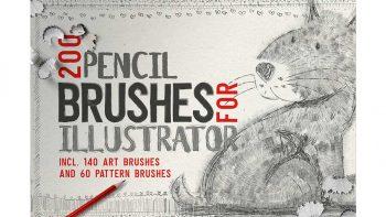 دانلود براش مداد ایلوستریتور Pencil Brushes for Illustrator