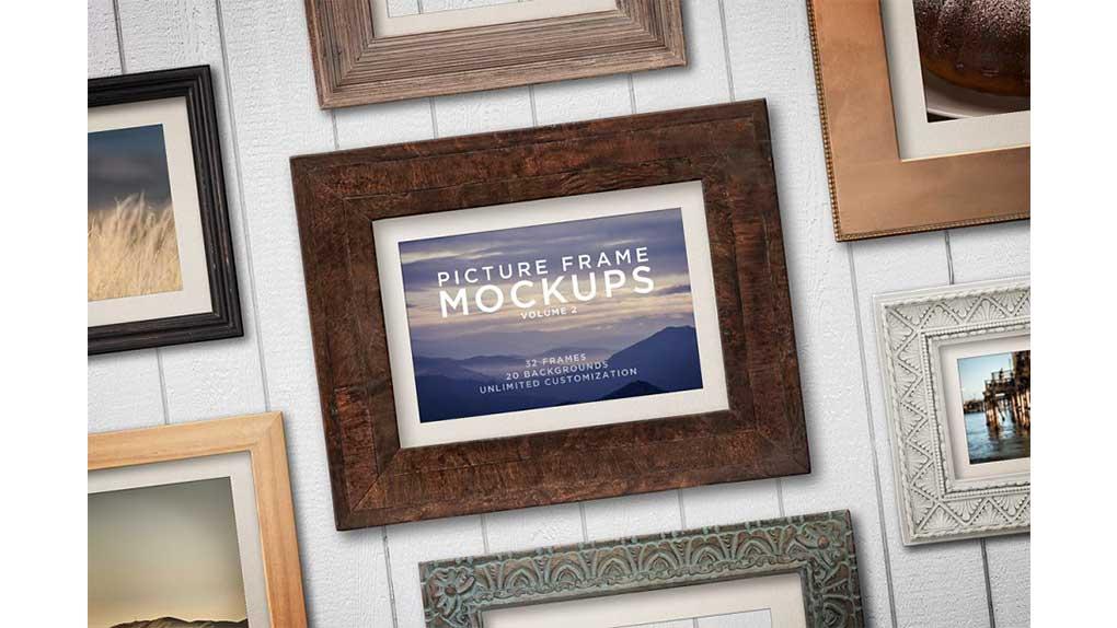 موکاپ قاب عکس Picture Frame Mockups Volume 2