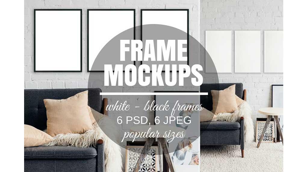 موکاپ قاب عکس Picture Frame Set Of 3 Mockups