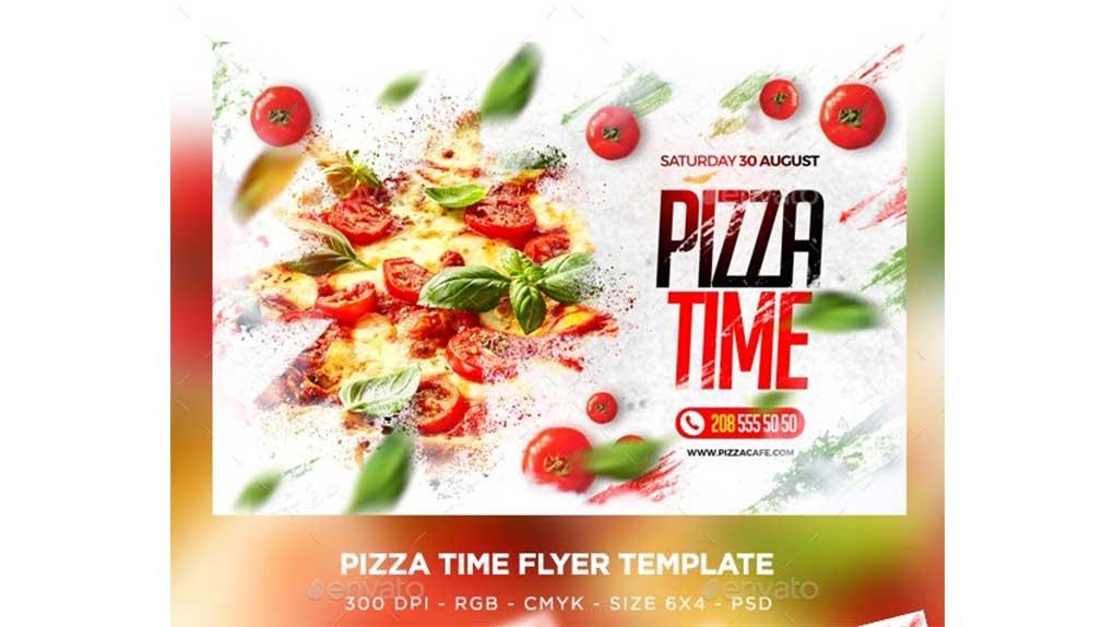 فایل لایه باز تراکت فروش پیتزا