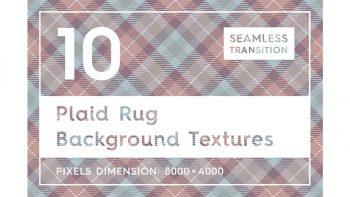 دانلود تکسچر روفرشی چهارخانه Plaid Rug Background Textures