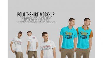 دانلود موکاپ تی شرت مردانه Polo Shirt Mock-Up