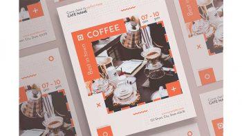 دانلود فایل لایه باز پوستر کافی شاپ Posters | Coffee Shop