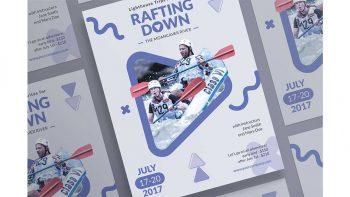 دانلود فایل لایه باز پوستر قایقرانی Posters | Rafting