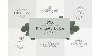 دانلود فایل لایه باز لوگو Premade Logo bundle laurel feminine