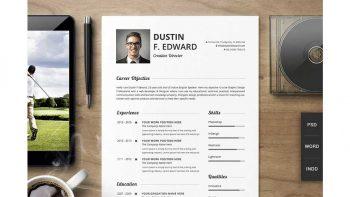 دانلود قالب آماده ایندیزاین رزومه Premium Resume CV Template Set