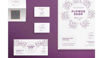 دانلود فایل لایه باز آگهی گل فروشی Print Pack | Flower Shop
