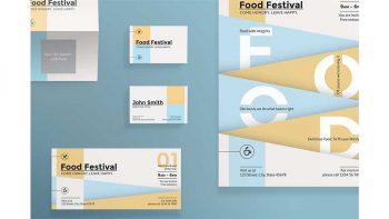 دانلود فایل لایه باز آگهی جشنواره غذا Print Pack | Food Festival