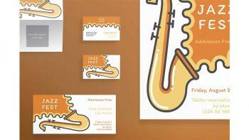 دانلود فایل لایه باز آگهی جشنواره موسیقی Print Pack | Jazz Festival