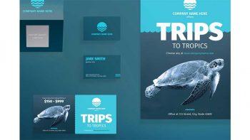 دانلود فایل لایه باز آگهی آژانس مسافرتی Print Pack | Travel