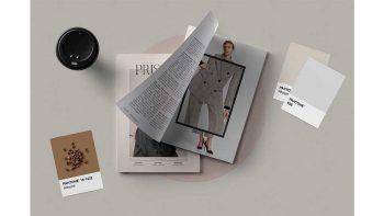 دانلود قالب ایندیزاین ژورنال لباس Prisma Magazine