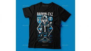 دانلود وکتور تیشرت Rappin-FXZ T-Shirt Design
