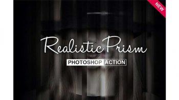 دانلود اکشن ایجاد افکت بلور Realistic Prism Photoshop Action