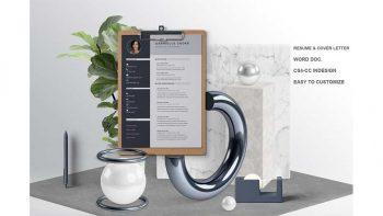 دانلود قالب آماده ایندیزاین رزومه Resume/CV Template | Gabrielle Cooke