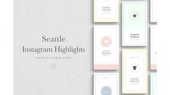 دانلود فایل لایه باز هایلایت اینستاگرام Seattle Instagram Highlights