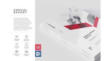 دانلود قالب آماده ایندیزاین گزارش سالیانه Sharp Annual Report