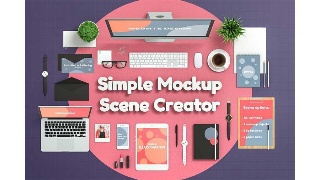 جعبه ابزار ساخت موکاپ اداری Simple Mockup Scene Creator