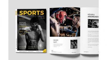 دانلود قالب آماده ایندیزاین مجله ورزشی Sports Magazine