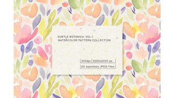 دانلود پترن آبرنگی گل Subtle Botanica. Vol.1