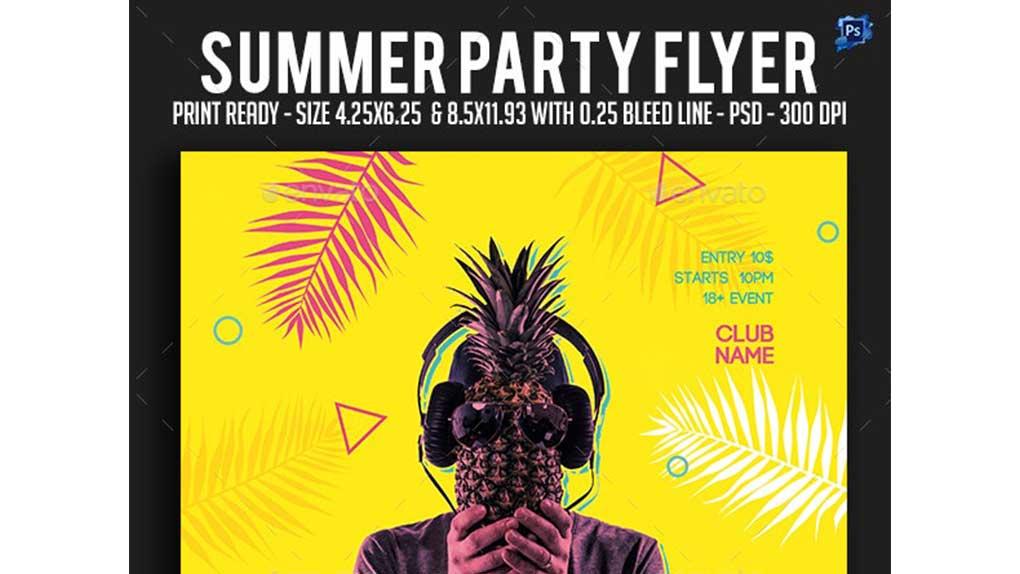 فایل لایه باز بنر Summer Party Flyer