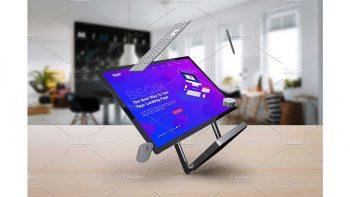 دانلود موکاپ مایکروسافت سرفیس Surface Studio Mockup V.3