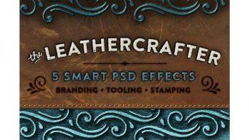 دانلود افکت متن با بافت چرمی The Leathercrafter – Smart PSD