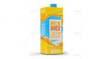 دانلود موکاپ پاکت شیر و آب پرتغال Types Milk / Juice Cartons Bundle Mock-Up