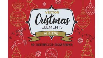 دانلود وکتور کریسمس Vector Christmas Elements