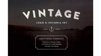 دانلود وکتور لوگو با طرح قدیمی Vintage Logo & Insignia Starter Kit