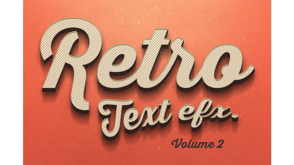 افکت متن Vintage Text Effects Vol.2