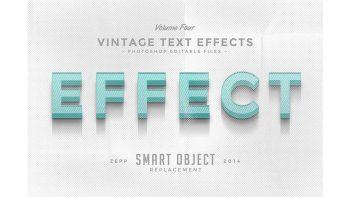 دانلود افکت متن Vintage Text Effects Vol.4