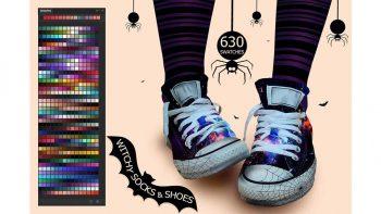 دانلود پالت رنگ Witchy Socks & Shoes Ps Swatches