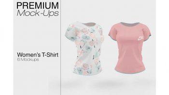 دانلود موکاپ تی شرت زنانه Women's T-Shirt Mockup