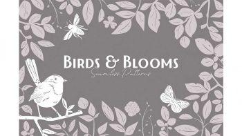 دانلود وکتور پترن گل و پرنده Birds & Blooms Seamless Patterns