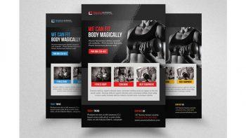 دانلود فایل لایه باز تراکت باشگاه تناسب اندام Body Fitness Club Flyer Template