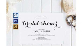 دانلود فایل لایه باز کارت دعوت عروسی Bridal Shower Invitation