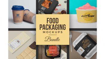 دانلود موکاپ بسته بندی مواد غذایی Food Packaging Mockups Bundle