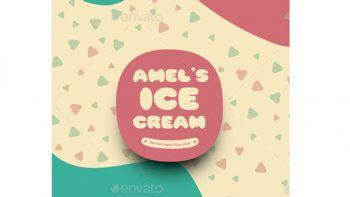 دانلود فایل لایه باز تراکت بستنی فروشی Ice Cream