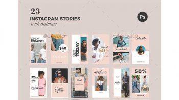 دانلود فایل لایه باز استوری اینستاگرام Instagram Story Templates